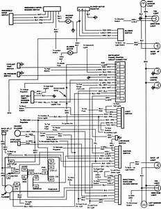 Ford Bronco 1984 Instrument Panel Wiring Diagram