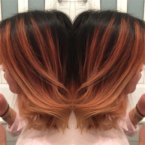 balayage rot blond balayage rot blond weiche verlaufen schwarz ansatz