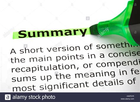 Meaning Of The Word by Dictionary Definition Of The Word Summary Highlighted With