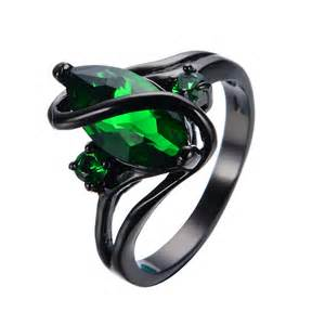 black gold emerald engagement rings aliexpress buy black gold filled emerald cz ring vintage wedding rings for