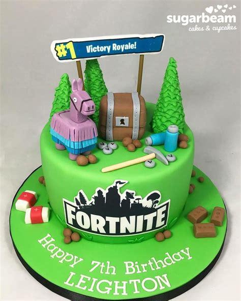 fortnite birthday cake completed   birthday cake