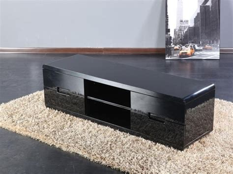 meuble tv design sunset noir laque meuble tv topkoo