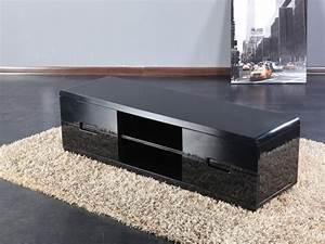 Meuble Laqué Noir : meuble tv design sunset noir laque meuble tv topkoo ~ Premium-room.com Idées de Décoration