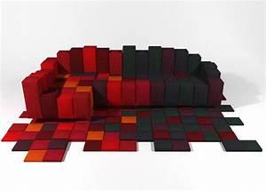 Idees cadeaux de noel tapis design for Tapis shaggy avec ron arad canapé