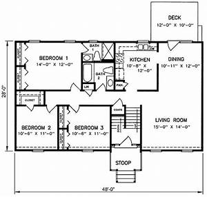 1970s Split-Level House Plans Split Level House Plan
