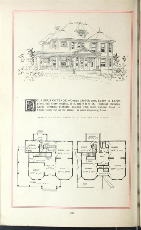 era house plans artistic homes herbert c chivers architect 1800 39 s