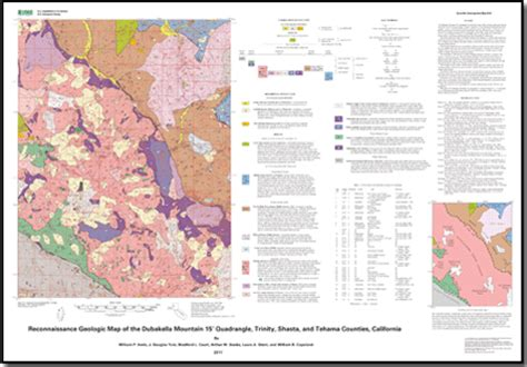 reconnaissance geologic map   dubakella mountain