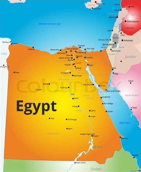 vector color map  egypt country stock vector colourbox