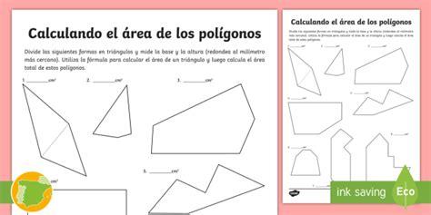 * New * Ficha De Actividad Calculando El área De Los