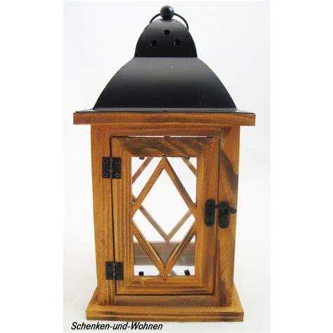 deko laterne holz deko laterne holz mit metalldach braun ca 14 x 27 cm schenken und wohnen