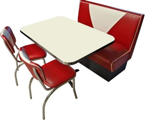 chaises rouges set de diner us table premium glacier 4 chaises
