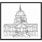 Capitol Coloring Congress Printable Template History Pages Print Sketch sketch template