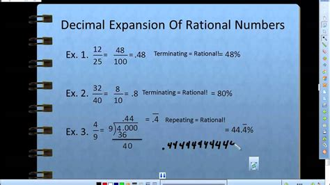 decimal expansion  rational numbers youtube