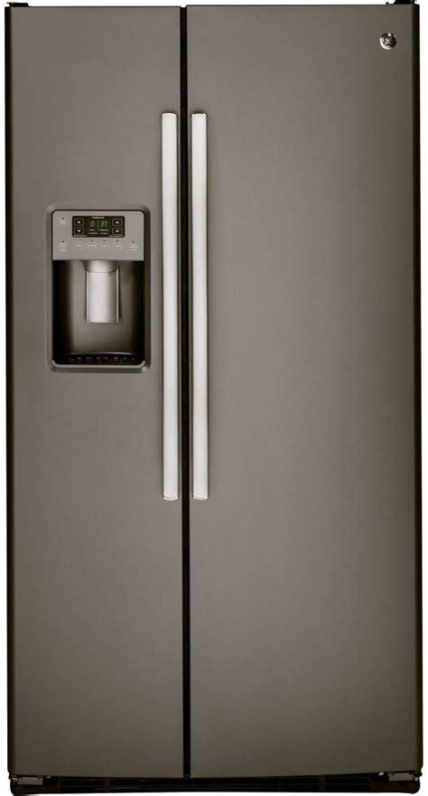 ge  cu ft side  side refrigerator slate gssgmhes spencers tv appliances
