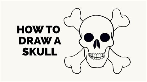 draw  skull easy step  step drawing tutorial