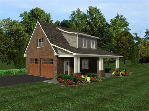 Garage Design Plans by 2 Car Garage Plans W Office Loft Covered Porch Ebay