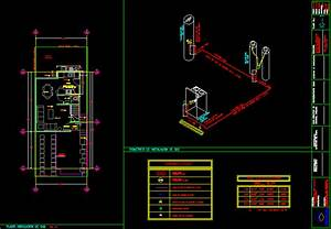 Gas Supply Installation, Isometric DWG Block for AutoCAD