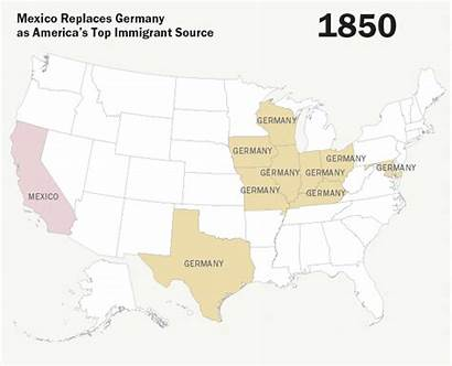 Mexico Immigrants Immigration Germany Maps America Source
