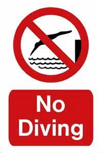 No Diving Sign Swimming Pool