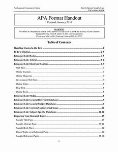 table of contents apa style 6th edition brokeasshomecom With table of contents apa style template