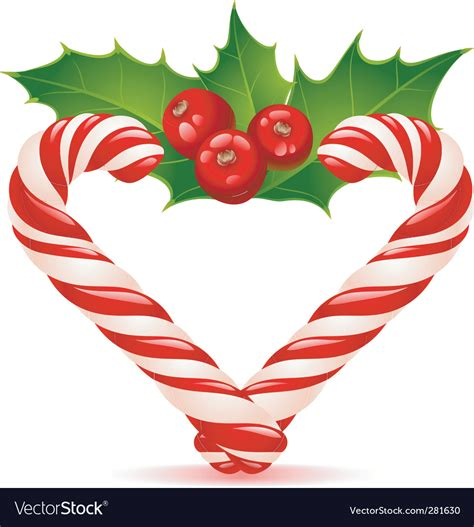 Free transparent candy cane heart vectors and icons in svg format. Christmas heart candy canes Royalty Free Vector Image