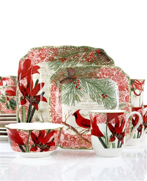 222 fifth dinnerware holiday decoupage plate