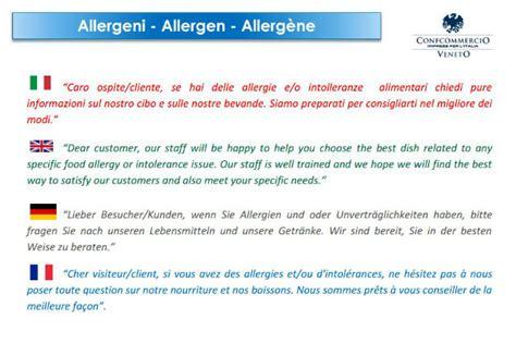 intolleranze allergeni nei menu dei ristoranti dissapore