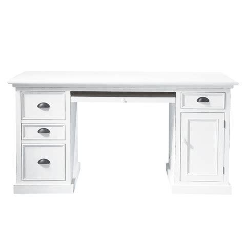 bureau en bois blanc l 150 cm newport maisons du monde