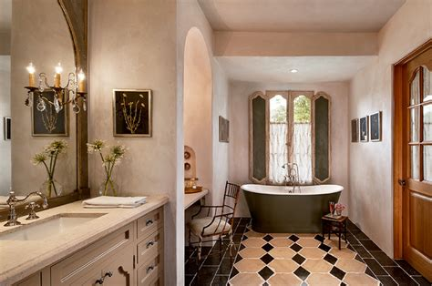 french country estate mediterranean bathroom phoenix