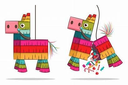 Pinata Mexican Candy Vector Horse Confetti Cartoon