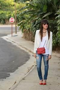 Blazer blanco jeans rotos y un toque de color... - Blog de Moda Costa Rica - Fashion Blog