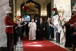 Music and swords greet Pope Francis on Iraq arrival