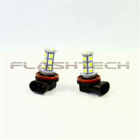 flashtech h11 18 smd led fog light bulb