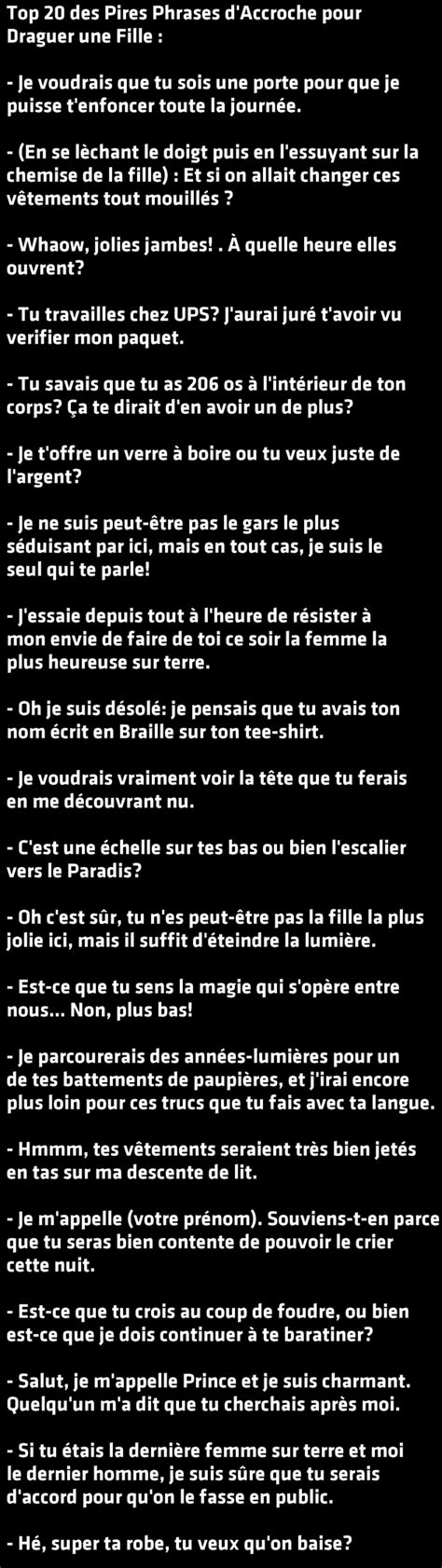 phrase d accroche fille top 20 des pires phrases d accroche pour draguer une fille