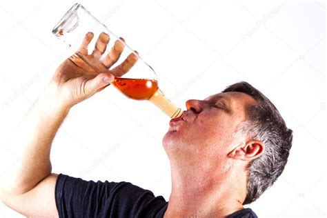 Man Drinking Alcohol — Stock Photo © Hackman #5669304