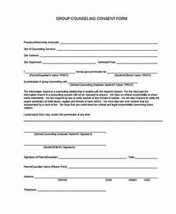 fantastic counseling consent form template pattern With counselling consent form template