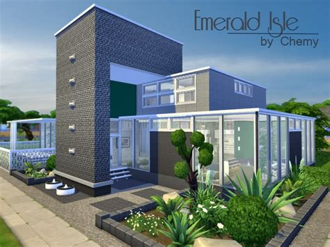 of sims 4 house building small modernity the sims resource emerald isle residential house by chemy Best