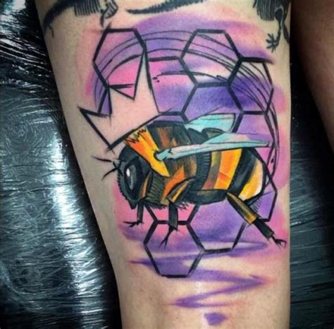 honey bee tattoo ideas  women styleoholic