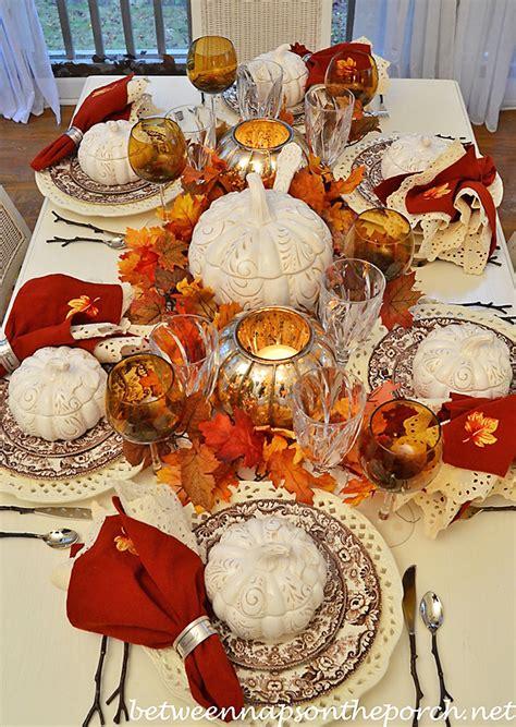 Everyday Kitchen Table Centerpiece Ideas - 5 autumn table settings