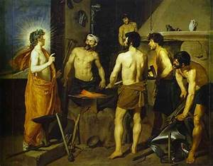 The Forge of Vulcan - Diego Velazquez Painting