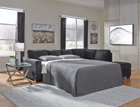 Altari Slate 2-Piece Sleeper Sectional with Chaise ...