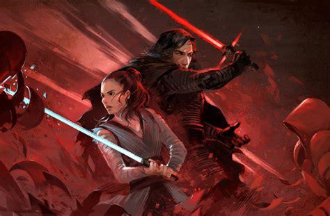 Rey And Kylo Ren By Sandara On Deviantart