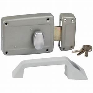 serrure a bouton droite en applique cle i pour porte With porte de garage coulissante jumelé avec changement de serrure