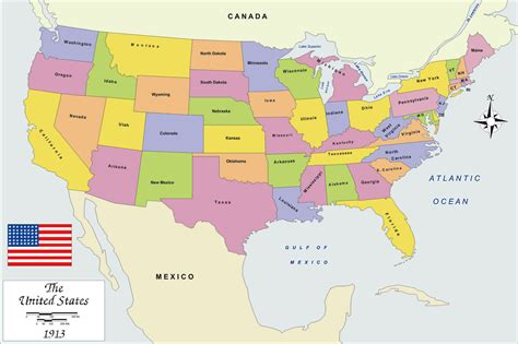 map  usa  large images