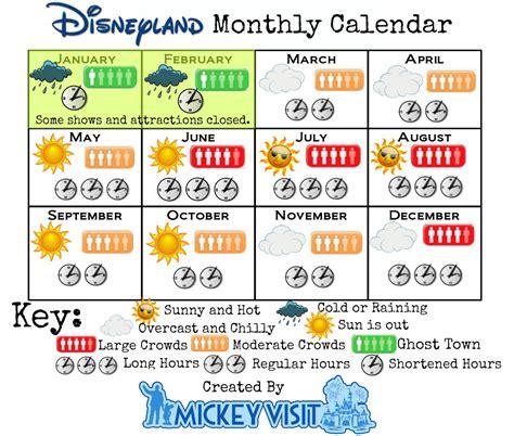 time visit disneyland disneyland crowd calendar