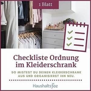 Ordnung Im Kleiderschrank : kleiderschrank organisieren checkliste ordnung halten elopage ~ Frokenaadalensverden.com Haus und Dekorationen