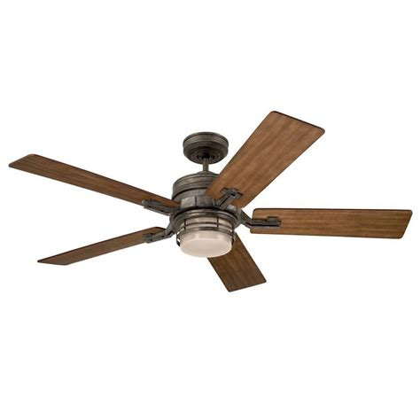 54 inch vintage steel transitional ceiling fan with light