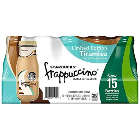 However, to discover how, you need to be 18 or more. Limited Edition Starbucks Tiramisu Frappuccino Chilled Coffee Drink 15 Pack- Buy Online in ...