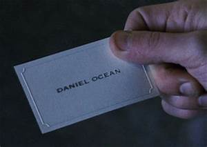 Copperplate gothic bold goes big time oceans 11 for Danny ocean business card