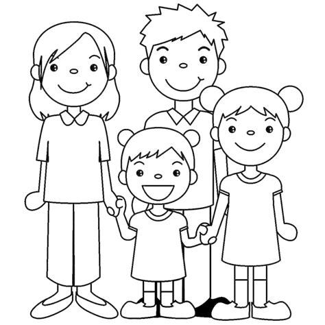 disegni per bambini da disegnare e colorare sta disegno di famiglia unita da colorare